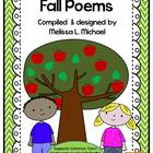 Literacy Posters * Fall Poetry Collection for Early Reader