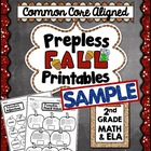 Fall Prepless (NO PREP) Printables - 2nd Grade Common Core