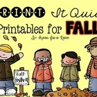 Fall Printables {Literacy and Math}