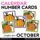 Fall Pumpkins Calendar Numbers