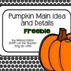 Fall Pumpkins Main Idea and Supporting Details