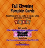 Fall Rhyming Pumpkin Cards