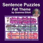 Fall Sentence Puzzles by Gramma Elliott