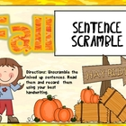 Fall Sentence Puzzles
