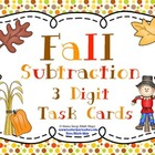Fall Subtraction (3 Digit) Task Cards