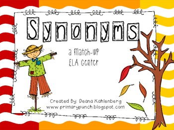 Fall Synonym Match-Up {FREEBIE}