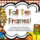 Fall Ten Frame Cards!  A Common Core Aligned Numbers And C