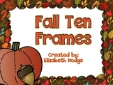 Fall Ten Frames With Coordinating Numbers