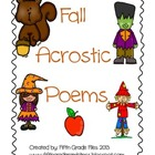 Fall Themed Acrostic Poems