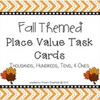 Fall Themed Place Value Task Cards Level 3 Thousands, Hund