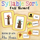 Fall Themed Syllable Sort