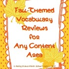 Fall-Themed Vocabulary Review for Any Content Area