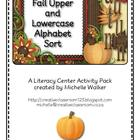 Fall Uppercase and Lowercase Alphabet Sort Literacy Center