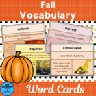 Fall Vocabulary Word of the Day cards