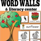 Fall Vocabulary Word Wall Cards: Illustrated {includes 34 words}