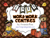 Fall Word Work Centres