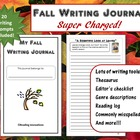 Fall Writing Journal: Super Charged with lots of extras!