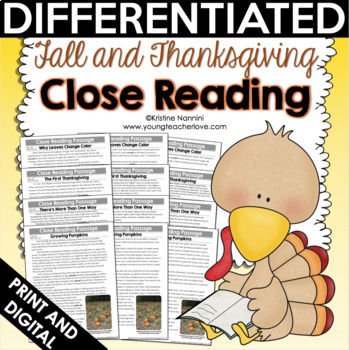 Fall and Thanksgiving Close Reading Passages, Text-Dependent Questions & More