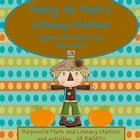 Fall into Math & Literacy Stations(160 pgs!) - October fun