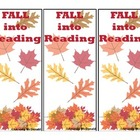 Fall into Reading Bookmark Freebie