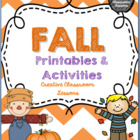 October Literacy Centers and Games {Activities and Printables}