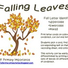 Falling Leaves Letter Identification {Freebie}