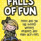 Falls of Fun {print and go activities}