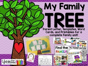 Family Tree Project: PreK - First Grade!
