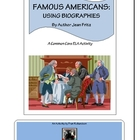 Famous Americans in Biographies by  Author Jean Fritz Project