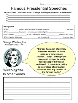 Famous Presidential Speeches - Washington & Jefferson