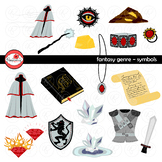 Fantasy Genre Symbols Clipart Set by Poppydreamz