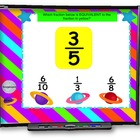 Far Out Fractions SMART BOARD Game