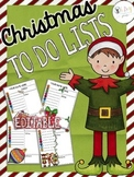 Farley's Christmas To Do Lists *editable*you customize it*
