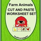Farm Animals Cut and Paste