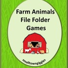 File Folder Games-Farm Animals-P-K, K, Special Education, Autism.