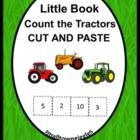 Farm Count the Tractors Cut and Paste Little Book