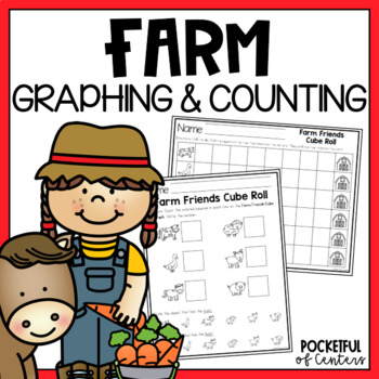 Farm Friends Cube Roll Printable Math Game