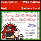 Farm Math Work Station Activities