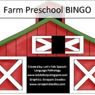 Farm Preschool BINGO