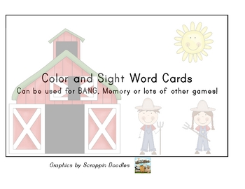 Farm Sight Word Cards