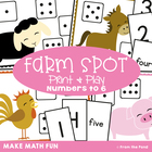 Farm Spot - Math Center Game Activity - Numbers/Dots to 6