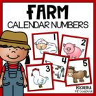 Farm Themed Calendar Numbers