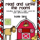Farm Unit Read and Write the Room (Journeys K list)