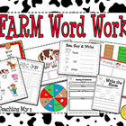 Farm Word Work Centers