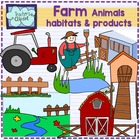 Farm clipart  {animals, habitats and products}