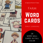 Farm word wall cards