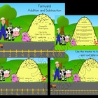 Farmyard Number Line Addition and Subtraction  SMARTBoard