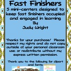 Fast Finishers: Addition Facts