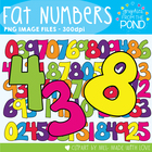 Fat Numbers - Clipart for Teachers