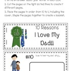 Father's Day Booklet -10 Reasons I Love My Dad